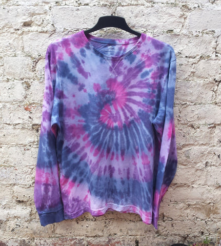 tie dye long sleeve top mens