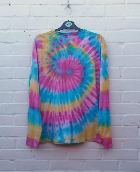 Tie Dye Sweater Mens Long Sleeve