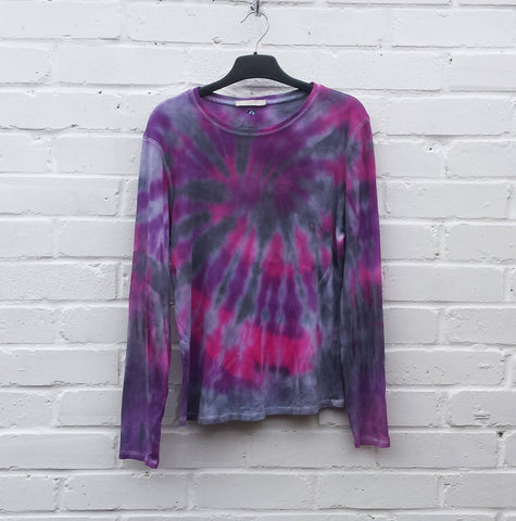 women's tie dye long sleeve top