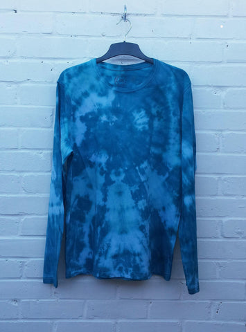 Teal Green Tie Dye Long Sleeve