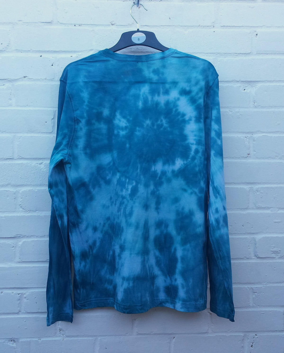 Tie Dye Sweater Mens Teal Green Long Sleeve Tee ALL SIZES Mens Festival Clothing