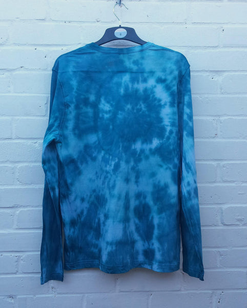 Tie Dye Long Sleeve Mens Teal Green
