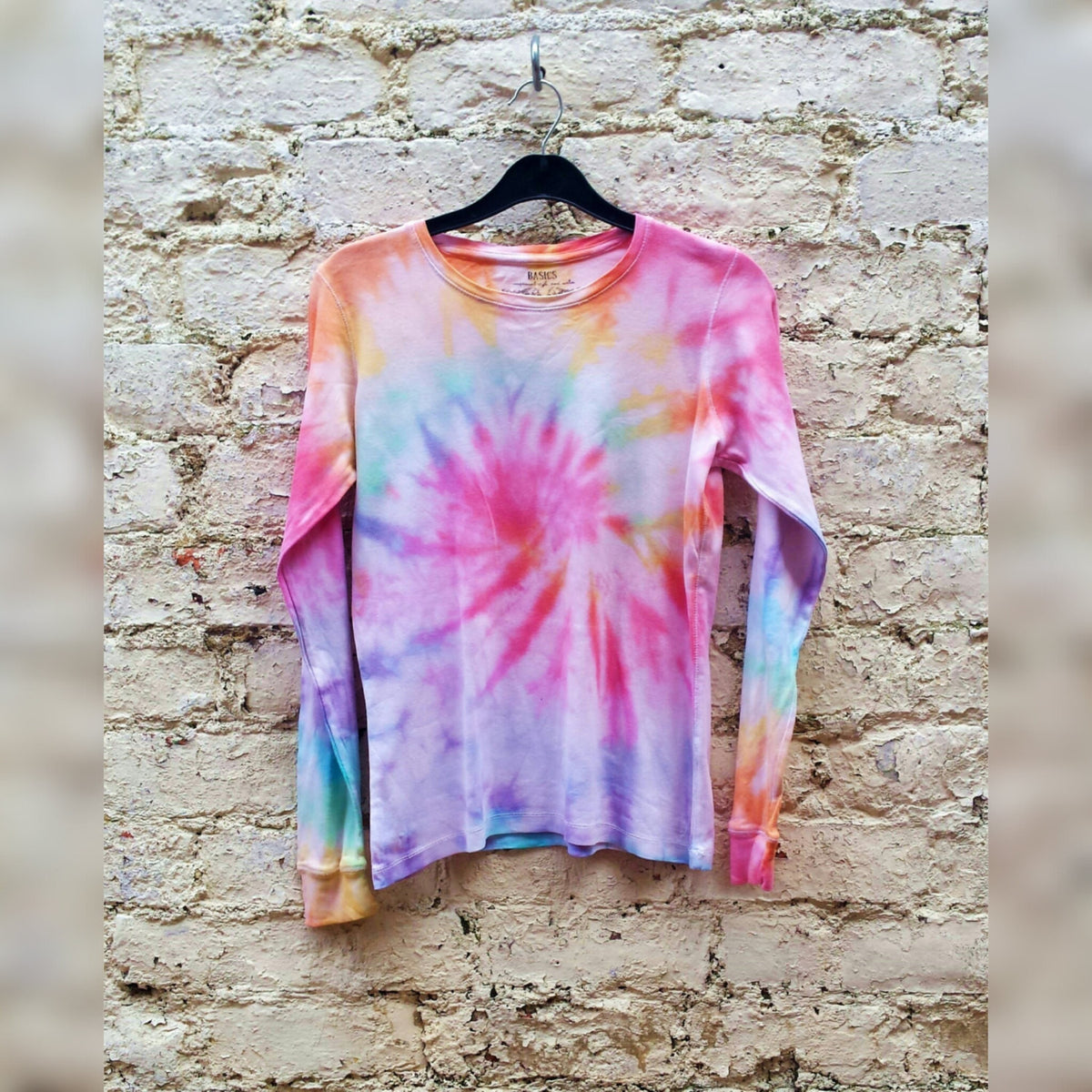 Tie Dye T-shirt Pastel Rainbow Long Sleeve