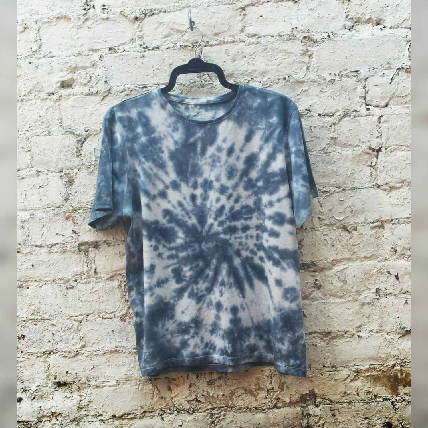 Black Tie Dye Shirt Men's Organic Cotton