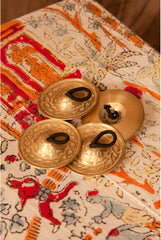 Mid-East Deluxe Cast Brass Finger Cymbals 1.8-Inch