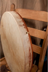 DOBANI Pretuned Goatskin Head Red Cedar Wood Frame Drum with Beater 18-Inch x 2-Inch