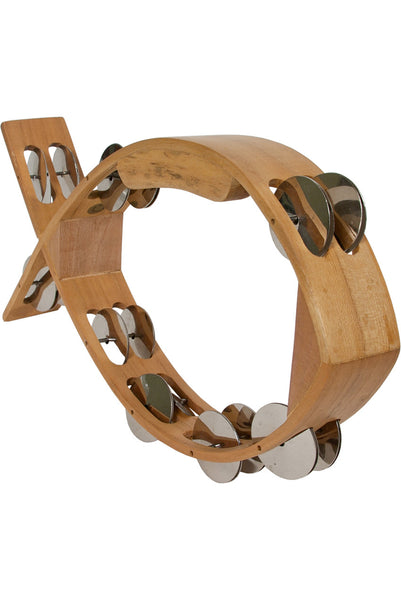 Mid-East Fish Tambourine 7-by-12-inch
