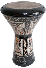 Mid-East Copper Doumbek, Skyndeep Head, Erzincan Etched, Dark, 11-by-17.5-Inch