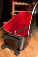 banjira Wheeled Fiberglass Case for Tabla Set - Black