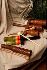 DOBANI 3-bell Wooden Agogo with Mallet