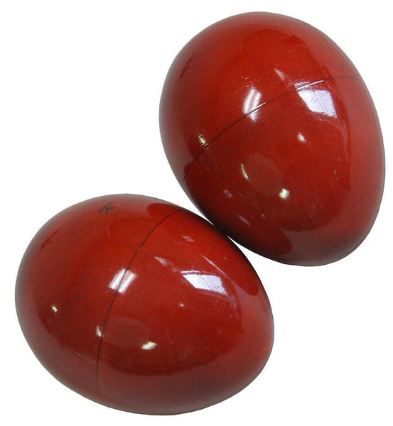DOBANI Wooden Egg Shakers - Pair - Red