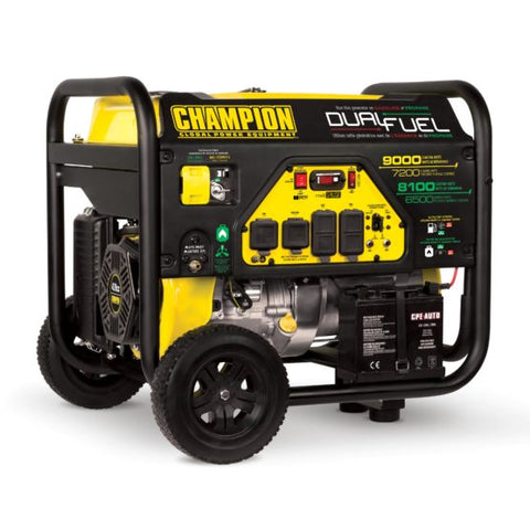 Champion 9000 W Portable Dual Fuel Generator