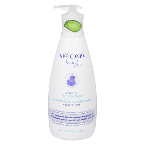 Live Clean Baby & Mommy Serenity Bath & Wash, 750ml