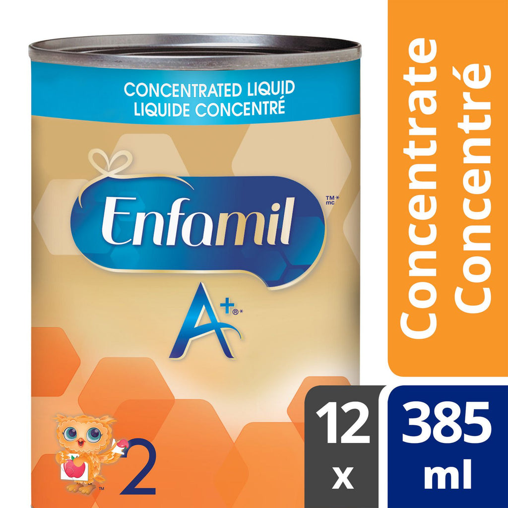 Enfamil A+® 2 Baby Formula, Concentrated Liquid, 385 ml ( 12 pack)