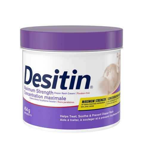 Desitin Diaper Rash Cream for Baby with Zinc Oxide, 454 gr