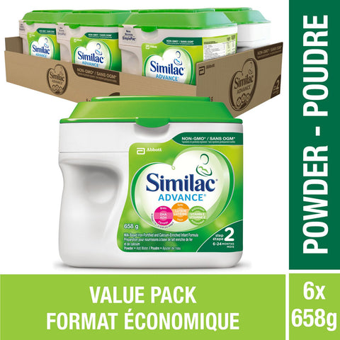 Similac® Advance® Step 2 Baby Formula Powder, 6 x 658 g, Value Pack