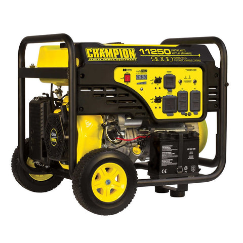 Champion 11,250 W Peak Portable Generator with Intelligauge and Electric Start