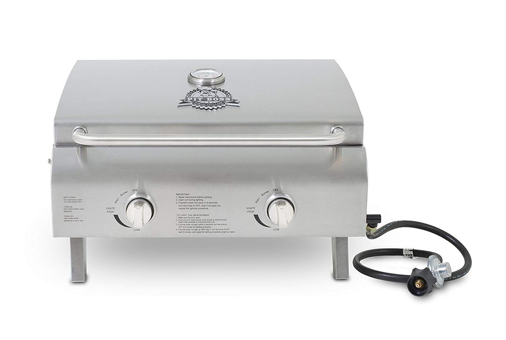 Pit Boss Grills 75275 Stainless Steel Two-Burner Portable Gril