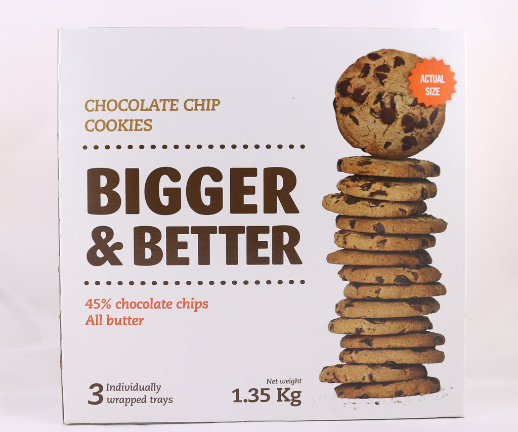 Chocolate Chip Cookies Bigger & Better 45% Chocolate Chips All Butter 1.35 kg