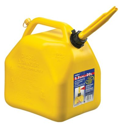Scepter Diesel Vented Fuel Can, 20-L
