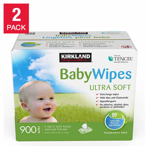 Kirkland Signature Tencel Baby Wipes, 2-pack
