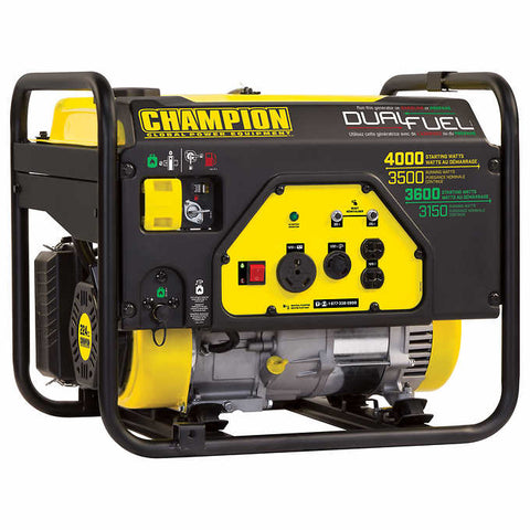 Champion Dual-fuel 4000 W Peak RV-ready Portable Generator