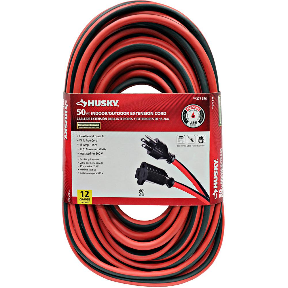 HUSKY 50 ft. 12-Gauge Outdoor Extension Cord