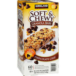 Kirkland Signature Soft & Chewy Granola Bars Chocolate Chip 60 Bars 64 x 24 g