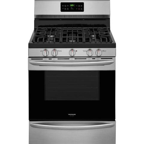 5.0 cu. ft. Gas Range with Self-Cleaning QuickBake Convection Oven in Smudge-Proof Stainless Stee