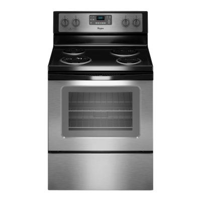 Whirlpool 30-inch 4.8 cu. ft. Single Oven Electric Range with Self-Cleaning in Stainless Steel