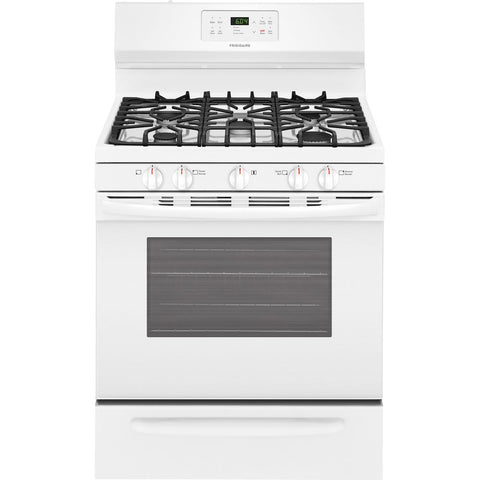 Fridaire 30 in. 5.0 cu. ft. Gas Range with Self-Cleaning Oven in White