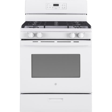 GE 30-inch 4.5 cu. ft. Single Oven Gas Range with Oven in White