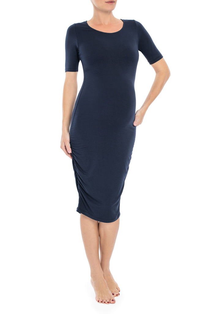 Short Sleeve Knee Length Maternity Dress