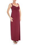 Maxi Maroon Maternity Dress