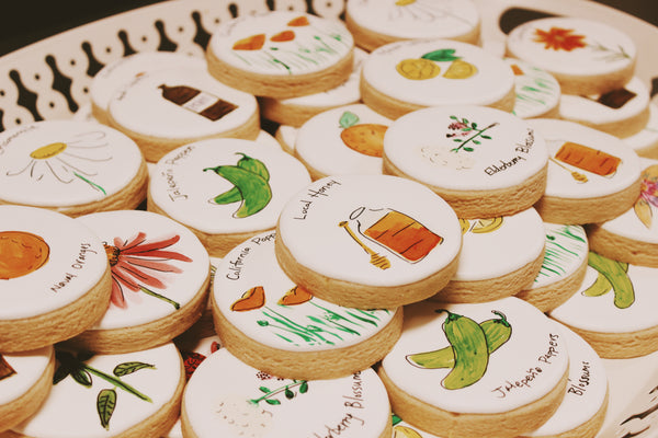 hand painted herbal cookies for the celebration