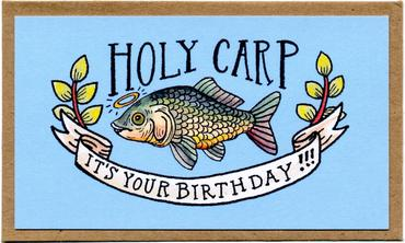 "Mattea's Hand ""Holy Carp"" Mini Card - Safe for kids and all natural"