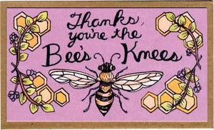 "Mattea's Hand ""Thanks..Bees Knees"" Mini Card - Andi Lynn's Pure & Custom Formulary"
