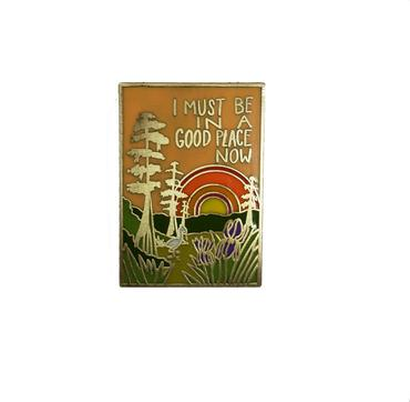 "Mattea's Hand ""Good Place"" Enamel Pin - Safe for kids and all natural"