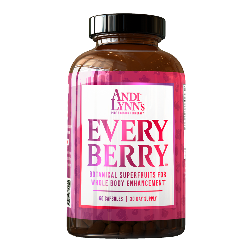 Andi Lynn's EveryBerry Botanical Superfruits for Whole Body Enhancement 60 capsules