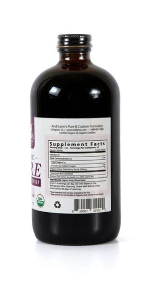 Andi Lynn's 2 pack 16oz Pure Elderberry Syrup Plus 1 Bronchia Calm Syrup, 4 oz - Safe for kids and all natural