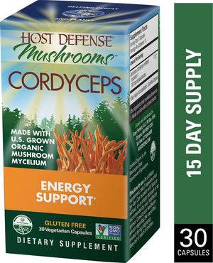 Cordyceps Capsules 60 ct - Safe for kids and all natural