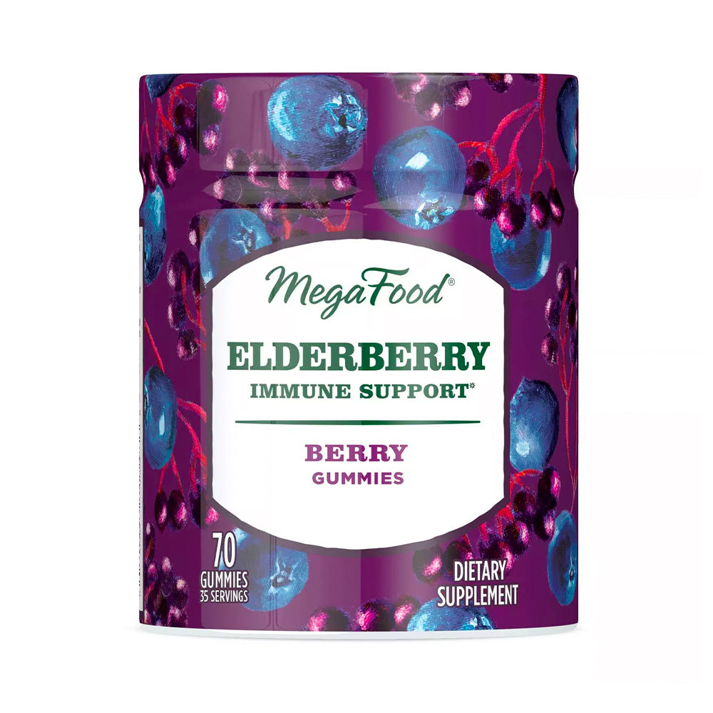 Megafood Elderberry Gummies 90 Count - Safe for kids and all natural
