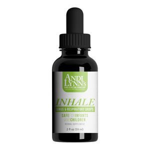 Andi Lynn's Inhale Sinus & Respiratory Drops, 2oz - Safe for kids and all natural