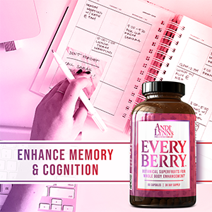 EveryBerry Power Blend of Botanical Superfruits for Whole Body Wellness 60ct Capsule