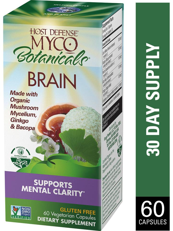 Myco Botanicals Brain Capsules 60 ct - Safe for kids and all natural