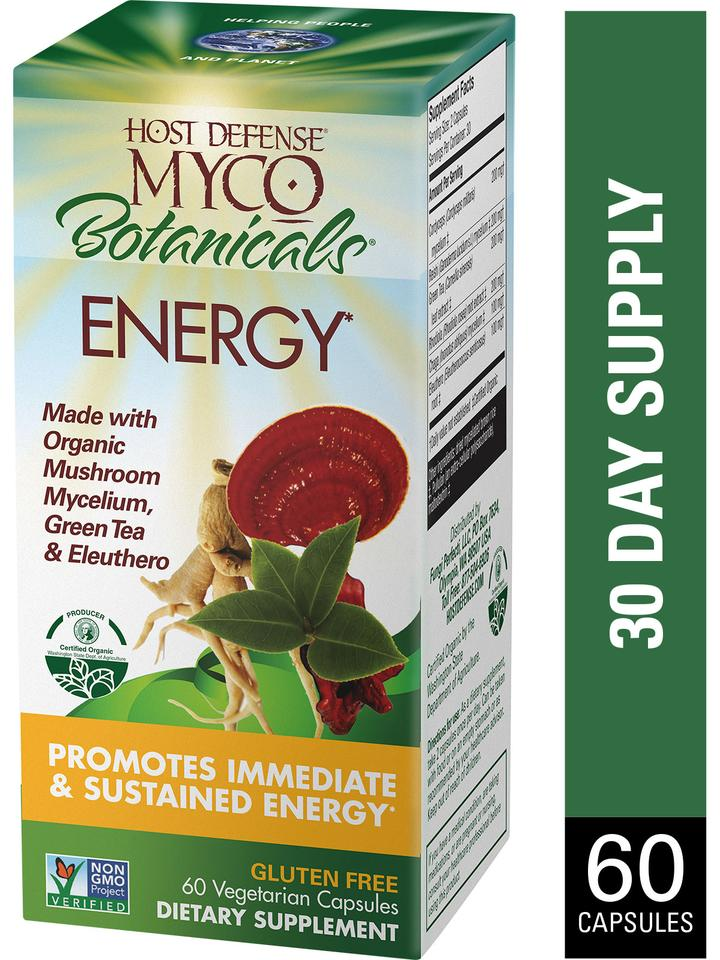 Myco Botanicals Energy Capsules 60 ct - Safe for kids and all natural