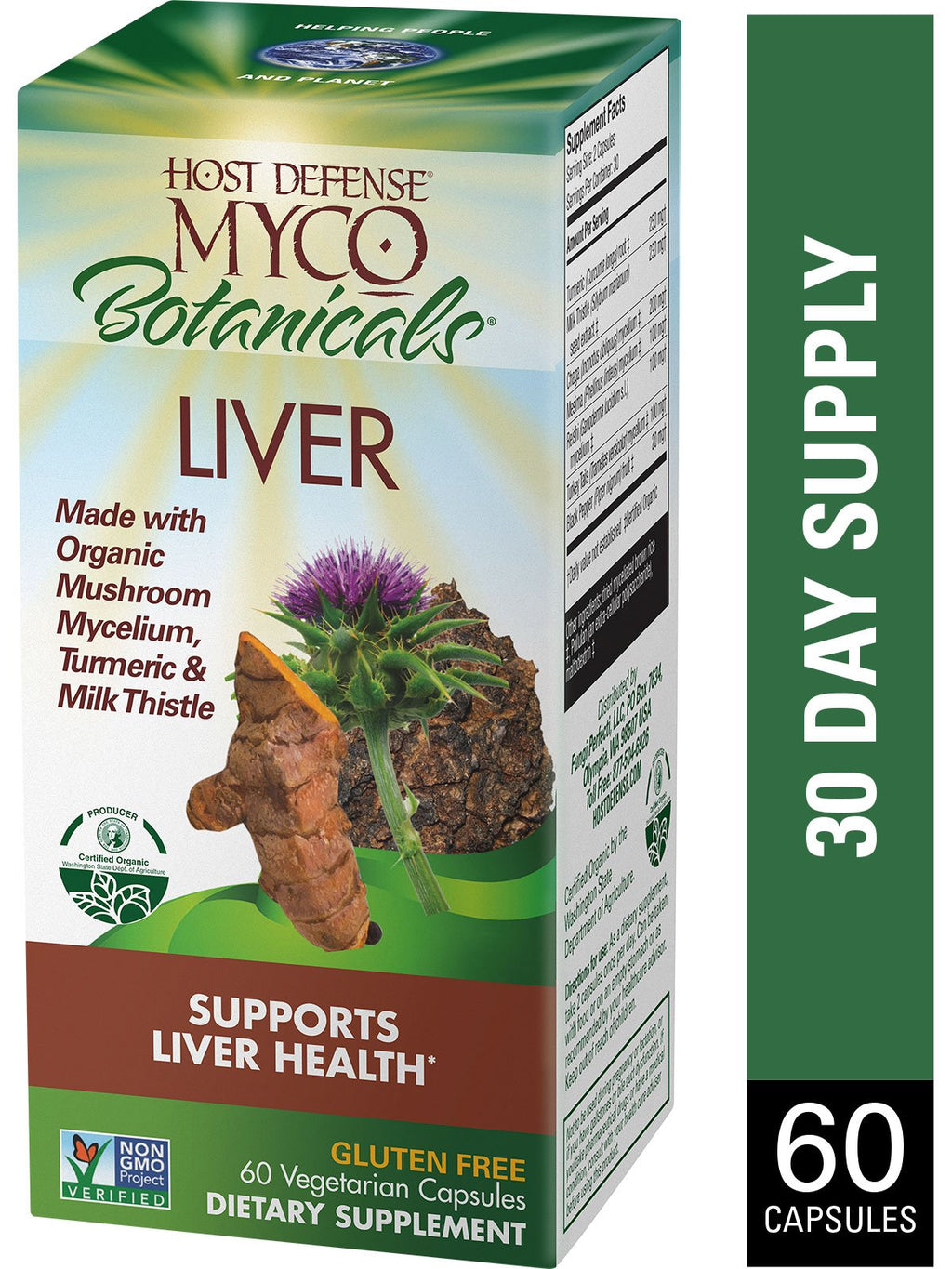 Myco Botanicals Liver Caps 60 ct - Safe for kids and all natural