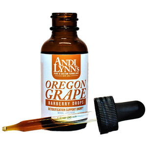 Andi Lynn's Oregon Grape Root Barberry Drops, 1oz - Safe for kids and all natural