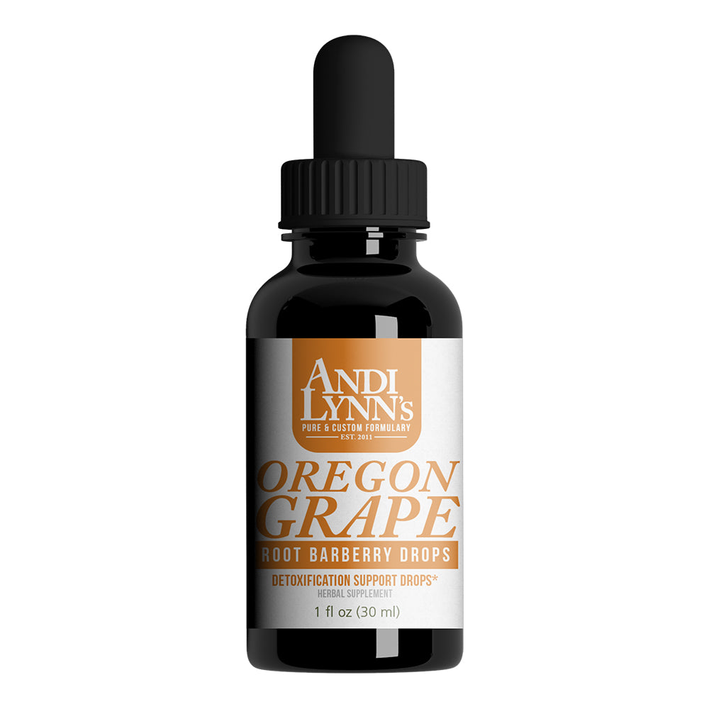 Andi Lynn's Oregon Grape Root Barberry Drops, 1oz - Andi Lynn's Pure & Custom Formulary