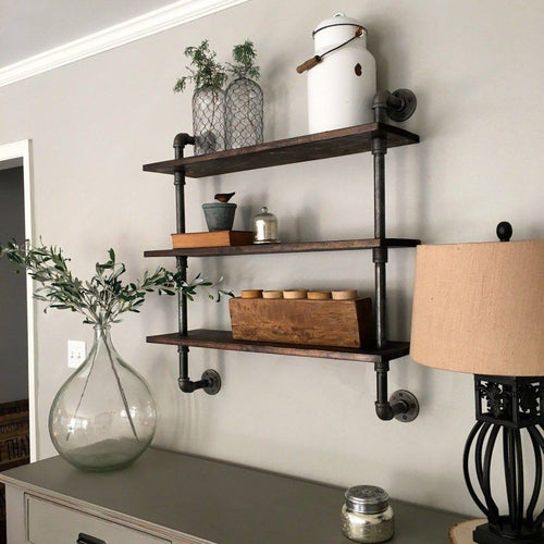 Industrial Pipe shelf 002